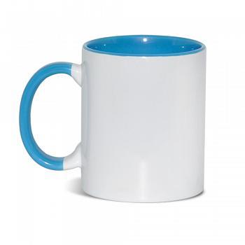Кружка внутри+ручка голубая
