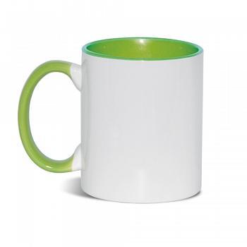 Кружка внутри+ручка светло-зеленый