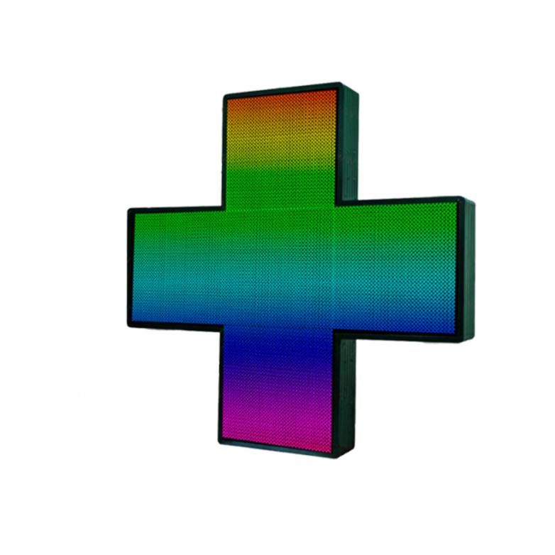 Аптечный светодиодный крест Полноцветный односторонний 768х768мм